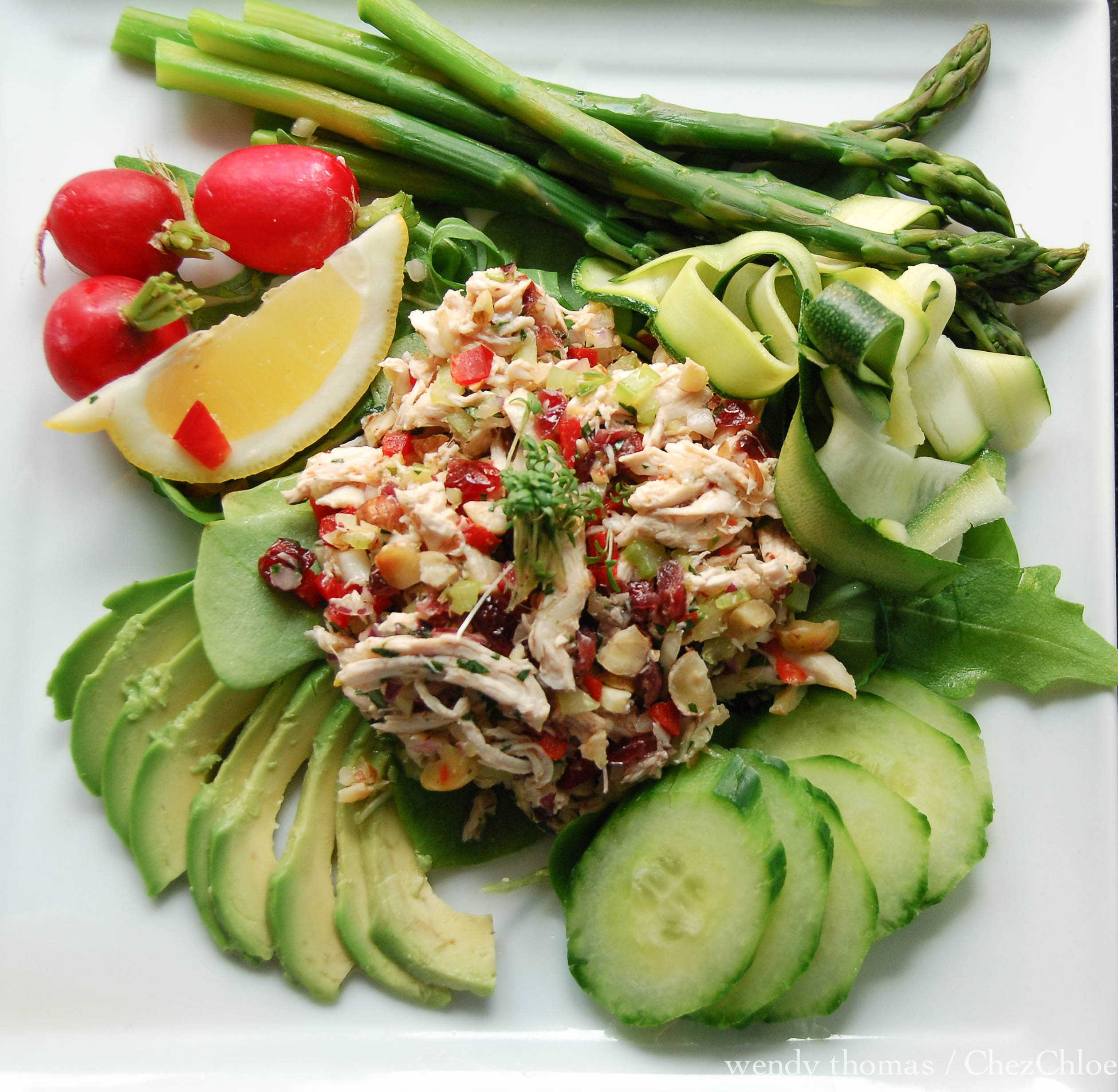 Tarragon Chicken Salad With Cranberries And Hazelnuts & A
