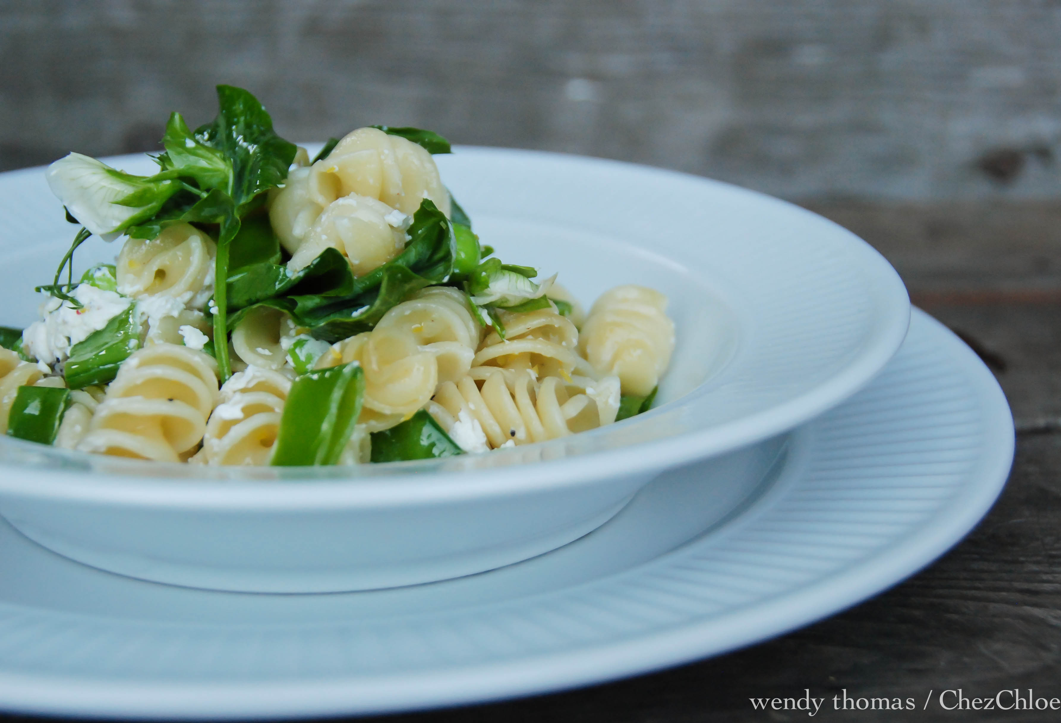 Pasta-pea and goat cheese & salmon-11