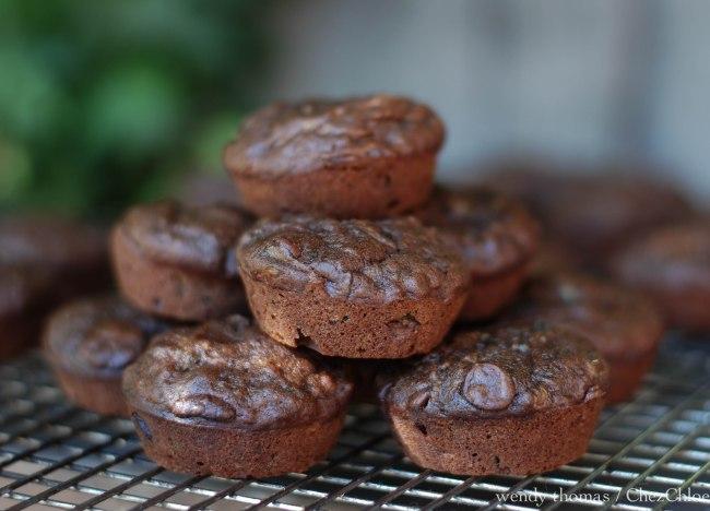 chocolate and zucchini muffins