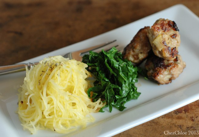 spaghetti squash and meatballs-9