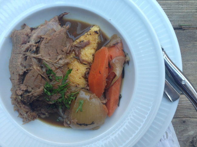 Rump roast w/ polenta