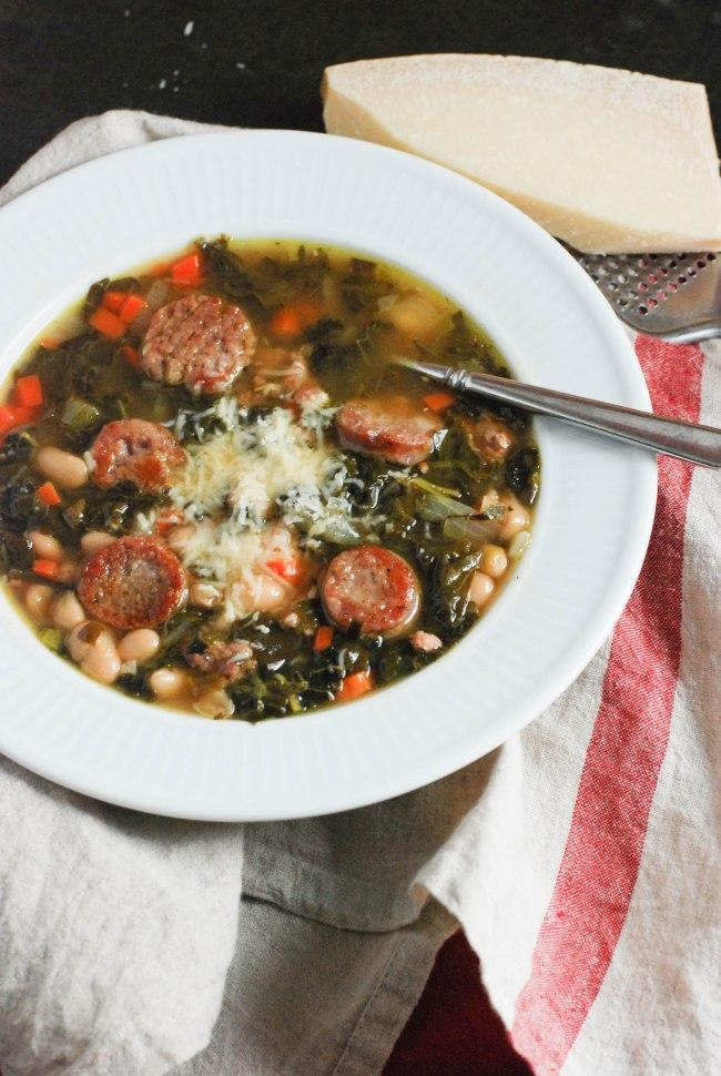 White bean kale sausage soup @wendyellenthomas.com-7