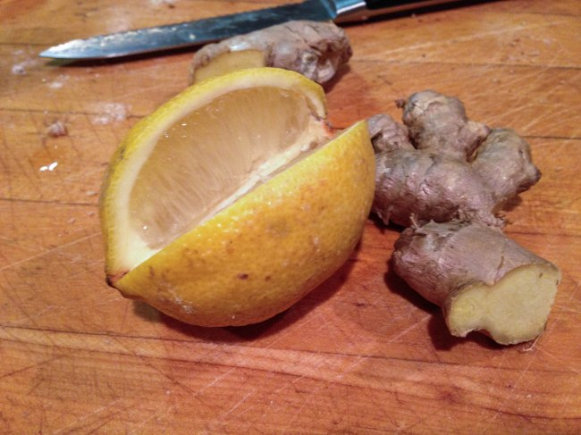 fresh lemon and ginger