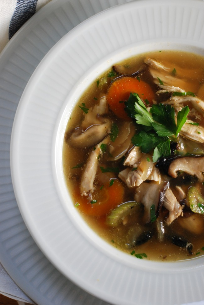 Chunky chicken and mushroom soup@ wendyellenthomas.com-8